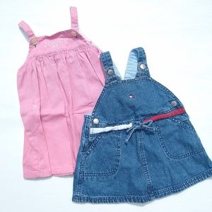 Vintage Tommy Hilfiger • baby overall dress lot